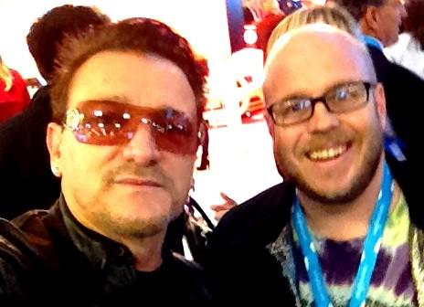 me and Bono 2013