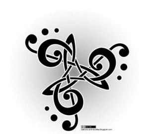 Triskele Celtic Tattoo Symbol 05