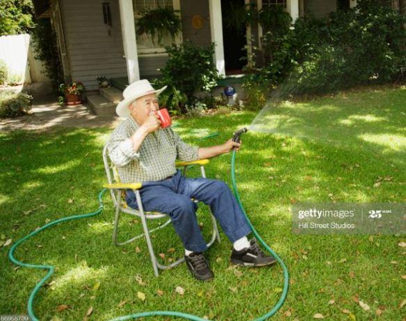lawn sitting